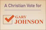 A Christian vote for Gary Johnson